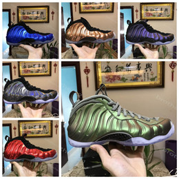 Wholesale quality foam - 2018 High Quality Basketball Shoes Penny Hardaway Mens Sports Sneakers Foam One Eggplant Purple Mens Basket ball Shoes comfort and support
