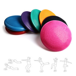stabilità yoga Sconti Fitness Ball Massaggio Yoga Ball Ballon Yoga Wobble Stabilità Equilibrio Cuscino Cuscino Palle Fitness con cilindro a gas