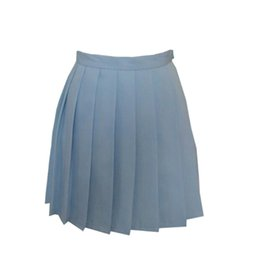 Wholesale Japanese Pink Girls - Japanese 2016 new brand girls skirts pleated schoolgirls skirt uniforms cos macarons waist solid pleated skirt multicolor female