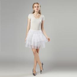 Canada 2019 Nouveaux Jupons Blancs Sans Cerceau Robe De Mariée Crinoline Accessoires De Mariage 3 Couches Lady Filles Stock Court Jupon Offre