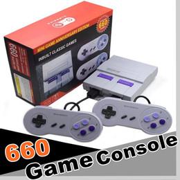 Jogos de snes nes on-line-1 PCS Super Clássico SFC TV Handheld Mini Consoles de Jogos 2018 Mais Novo Sistema De Entretenimento Para 660 SFC NES SNES Consola de Jogos Drop Shipping