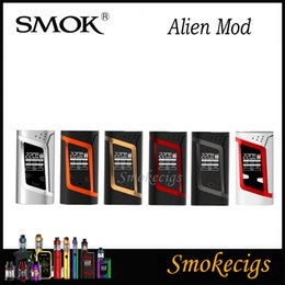 Wholesale Vw Display - Smok Alien Box Mod SMOK Alien TC Box MOD 220W VW TC Function Alien TC Mod Big OLED Display Best Match Smok TFV8 Baby Tank 100% Original