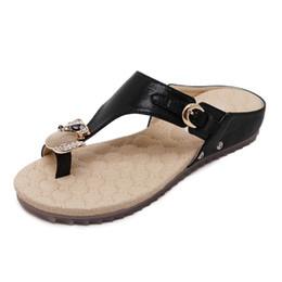 Wholesale ethnic sandals - Summer Shoes Women buckle Bohemia Ethnic Flip Flops Soft Flat Sandals Woman Casual Sandals Comfortable Plus Size