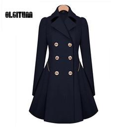 Wholesale Thin Overcoat - Wholesale-Winter Trench Coat 2017 Hot Sale Womens Coat Classic waist was thin coat Windbreaker Women Trench Female Long Sleeve Overcoat
