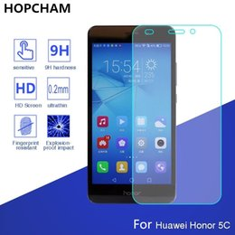 защитные корпуса для смартфонов Скидка Tempered Glass For HUAWEI honor 5C 7 lite 7lite GT3 NEM-AL10 Screen protective 5.2 inch cover smartphone case 9H on toughened
