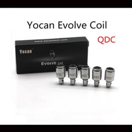 Deutschland Yocan Evolve Spulen für Yocan entwickeln Wachs Vape Pen Starter Kit Ersatz QDC Quarz Dual Coil hochwertige Spulen Versorgung