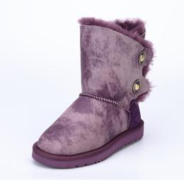 Canada Nouveau Type 2017 / laine de peau de mouton une neige bottes femme avec hiver boucle plate à fond chaud bottes hautes de veau, livraison gratuite cheap flat leopard snow boots Offre