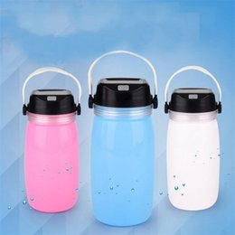 Wholesale Portable Battery Storage - Solar Energy Charge Silicone Cup Lamp Multi Function Outdoors LED Camping Lamp Useful Portable Battery Storage Cups 35hb X