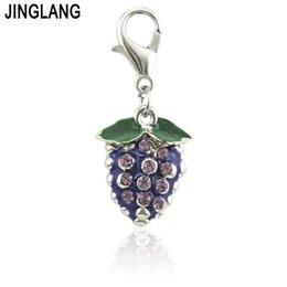 Canada JINGLANG Fashion Grapes Charms pour femmes boucles d'oreilles faisant des accessoires émail à la main fruits Charms alliage beau cadeau Offre