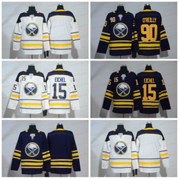 Navy jack online-2018 Buffalo Sabers Hockey Jerseys 15 Jack Eichel 90 Ryan O'Reilly Blank Stitched White Navy