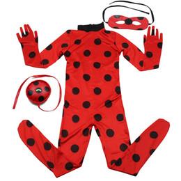 Wholesale Pink Skin Costume - women halloween Ladybug Girl Costume Miraculous Kids Marinette Cartoon Cosplay Second Skin Halloween Party costumes Suit