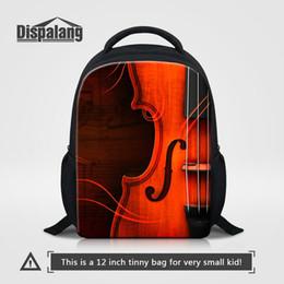 Wholesale Cartoon Violin - Violin Cartoon Bags 3D Musical Note Kid School Bag 12 Inch Small Baby Outdoor Shoulder Bag Child Schoolbag For Kindergarten Children Bagpack