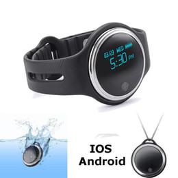 Reloj pulsera saludable online-E07 Impermeable IP65 Bluetooth Smart Watch Pulsera Deporte saludable Podómetro Sleep Monitor relojes inteligentes para teléfonos android Envío gratis