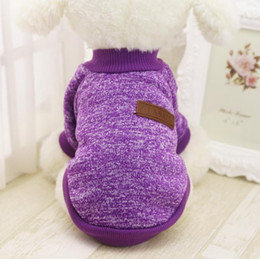 Wholesale Discount Winter Jacket - Cheap Discount Pet Small Dog Clothes Winter Puppy Hoodie Jacket Soft Warm Dog Coat Chihuahua Yorkie Clothing XS-XXL 10Colors DHL Free