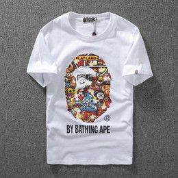 monkey print shirt Promo Codes - HIGH Quality Monkey Luminous Print Short Sleeve Men S T -Shirt Top Quality Men And Woman Casual Couple T Shirt