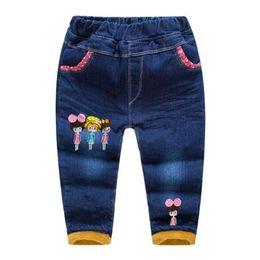 Pantaloni per bambini Inverno Vestiti per neonate Cartoni animati per bambini Abbigliamento Neonati Pantaloni Moda Autunno Baby Jeans per 2-5 anni da vestiti di vecchio stile per le ragazze fornitori