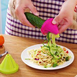 Processamento de vegetais on-line-Espiral de frutas Vegetais Shred Processo Dispositivo Dispositivo Cortador Slicer Descascador Ferramenta de Cozinha Spiralizer Cortador Graters ferramenta de cozinha Gadget