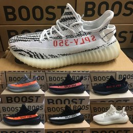 Wholesale Cheap Streetwear - 2018 Wholesale Discount Cheap Boots 350 V2 Shoes 350 Fashion Women and Men 350 v2 Boost low Free Streetwear Running Sports Shoe Dropshipping