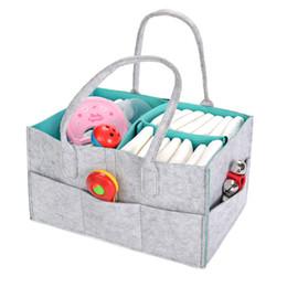 Canada Protable pliable feutre sac à langer multi-fonctionnel enfants bébé vêtements jouets caddy diaper stockage organisateur pochette pochette fourre-tout cheap felt baby toys Offre