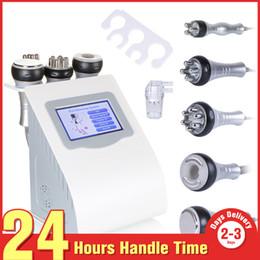 Wholesale Liposuction Vacuum - Free Shipping 5in1 Ultrasonic Liposuction 40k Cavitation Vacuum Multipolar RF Laser Slimming Radio Frequency Skin Body Salon Machine
