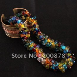 Wholesale Nepal Beads - whole saleTNL343 Nepal colorful mini Glass Beads Necklace 17'' Summber girls necklaces