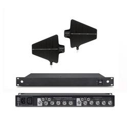 Auriculares uhf online-Sistema de Distribución de Antena profesional 470-952MHZ Para UHF Micrófono de Karaoke Inalámbrico Lavalier Headset Para karaoke en casa