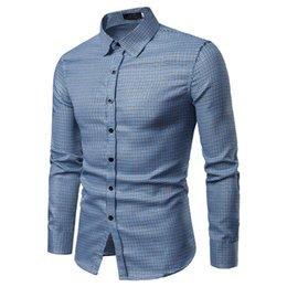 231e3d932c3 Camisas para hombres Novedades Camisa Slim Fit para hombre Camisa a rayas  de manga larga Estilo británico Algodón para hombres Tamaño de Europa Plus  Talla ...