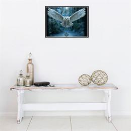 Wholesale Craft Owls - DIY Round Diamond Paintings Frameless Owl Cross Stitch Home Decor Arts And Crafts Gift 9 9tz C R