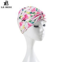 Wholesale nylon knots - LE BESI 2017 Sexy Flower Women's Swimming Cap Binder Beach Quick Dry Pleated knot Girls Elastic Bathing Swimming Pool Hat
