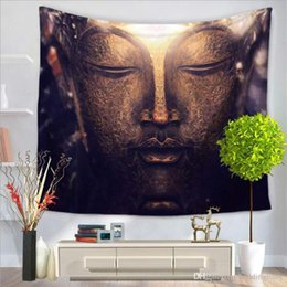 Discount plain table cloths - 150*200CM Indian Tapestry Buddha head Cambodia Style Home Decorative Wall Hanging Tapestries Thin Yoga Mat Bedspread Table Cloth