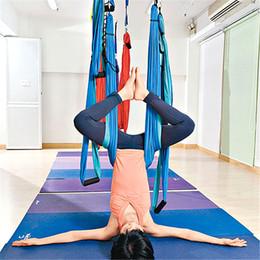 Yoga Hammock Altalena Paracadute Tessuto Inversione Terapia Anti-gravità Ad alta resistenza Decompressione Amaca Yoga Palestra appesa da swing inversione yoga fornitori