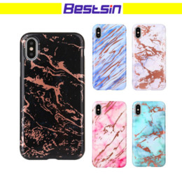 Wholesale Cool Iphone Phone Cases - Bestsin Marble Design TPU Cover Case Smooth Surface Cool New Defender phone Case For iphone 6 to X Free DHL Shipping