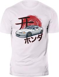 Japonês bonito camiseta on-line-Honda CRX Civic Del Sol Tipo R JDM Japonês T-shirt de impressão Personalizada 2018 Engraçado Tee Camisas Bonito T Homem 100% Algodão Legal