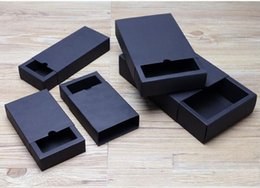 Wholesale Packaging Handmade Soap - drawer shape Craft Gift Handmade Soap Packaging black Paper Boxes black kraft soap packaging box .12.02