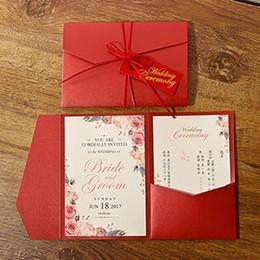 Canada Nouveau Style 3 Plis Rouge Invitations De Mariage De Cartes Pour Le Mariage Nuptiale De Douche De Fiançailles Fête D'anniversaire Invitation Offre