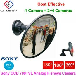2019 cámara effio Lihmsek 700TVL Effio Sony CCD CCTV 130 180 360 grados gran angular analógico ojo de pez espejo panorámico Cámara de seguridad de video cámara effio baratos