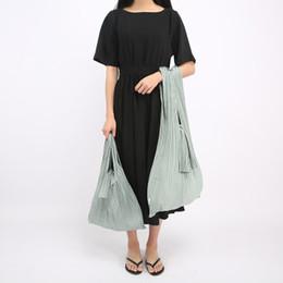 Sacos com marca japonesa on-line-Sacos de Plissado Para As Mulheres Sacos de Marca Japonesa Designer de Lona Dobrável Dobrável Da Lona senhora Bolsas Tailândia Moda Doce Cor