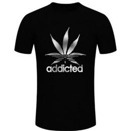 Maple Leaf noir hommes t-shirt accro du coton occasionnel O-cou t-shirt pour homme été manches courtes vêtements drôle t-shirts D20 ? partir de fabricateur