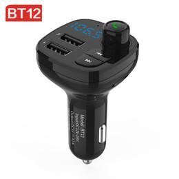 Canada BT12 Transmetteur FM Modulateur 3.1A Double Chargeur USB Kit De Voiture Bluetooth Audio Musique Mp3 Lecteur Téléphone Sans Fil Kit Mains Libres De Voiture Offre