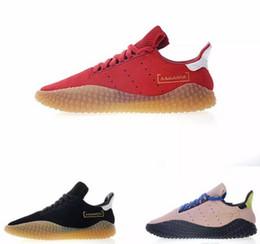 2018 Venta caliente Kamanda Suede Vino Rojo Rosa Negro Oro Goma Caucho crudo Goma zapatillas para zapatillas de deporte para hombre baratos Zapatillas de deporte de moda EUR 40-45 desde fabricantes