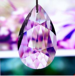 Wholesale Prism Crystal Suncatcher - 100pcs lot 50mm crystal chandelier part glass prism suncatcher hanging pendant free shipping