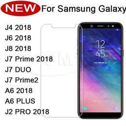 Galáxia núcleo vidro temperado on-line-Bluk vender protetor de tela do telefone de vidro temperado samsung j2 j260 j260 j4 2018 j8 2018 j8 2018 j7 duo j7-prime j7prime2 j2core j2 pro