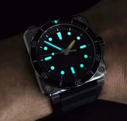 Wholesale Swiss Movement Dive Watches - 2018 Mens Superlative NOOB Factory 42mm AVIATION BR 03-92 Swiss CAL.9015 Movement Automatic Black rubber Super luminous Dive Watches