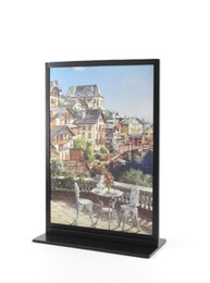 Wholesale Advertising Poster Display - Black Metal A4 Double-sided Table Advertising Display Stand Poster Stand KT Board Sign Holder Menu Display