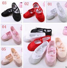 b08350c7448 2019 danza de cuero Zapatos de baile de ballet para niños grandes Zapatos  de baile de