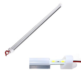 coole hausleuchten Rabatt Harter LED-Streifen 5630SMD Cool Warm White Starre Leiste 72-LEDs LED-Lichtschalengehäuse Mit Abdeckung LED-starrer Streifen