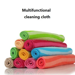 Wholesale furniture padding - In a multi function cleaning cloth Dacron water washing towel Confectionery and soft cloth Household cleaning towel T4H0283