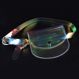 diseño de bolsa de embalaje pequeño Rebajas Pequeñas Bolsas de Cintura Diseño Claro Moda Transparente Fannie Packs Fanny Pack Sobres Paquetes de Cintura Bolsas de Cinturón de Dinero para Mujeres 2018