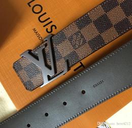 Con caja nueva marca cinturones para hombre y para mujer cinturón de moda casual cuero de alta calidad 2.3 3.4 3.8 cinturones al por mayor envío gratis marca cinturón desde fabricantes