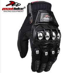 MADBIKE нержавеющей стали мотоцикл перчатки черный синий мотокросс перчатки мотоцикл защитные MAD - 10C Luvas пункт Велоспорт перчатки от